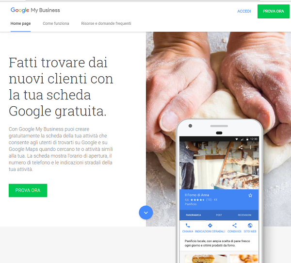 scheda google my-business