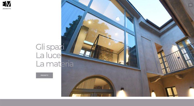 Realizzazione siti web - Architetto Merola